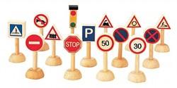Plan Toys  Plan City houten speelstad sets Verkeersborden