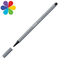 STABILO pen 68 donkergrijs