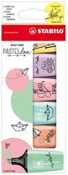 Stabilo boss mini teken en verfspullen markeerstift pastellove 6 kleuren