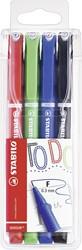 Stabilo teken en verfspullen  sensor 189 fineliner fine 0,3 mm etui 4 kleuren