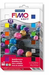 Fimo  soft klei - 12 halve blokken
