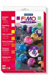 Fimo  soft klei - 24 halve blokken