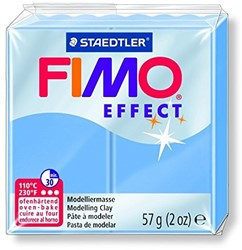 Fimo  effect klei blauw agaat