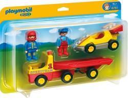 Playmobil - Playmobil 1.2.3 - Racewagen met takelwagen