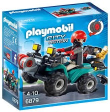 Playmobil City Action - Bandiet en quad met lier  6879