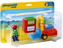 Playmobil  1.2.3. Vorklift met lading 6959