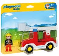 Playmobil 1.2.3 Brandweerwagen met ladder  6967