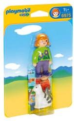 Playmobil  1.2.3. Verzorgster met kat 6975
