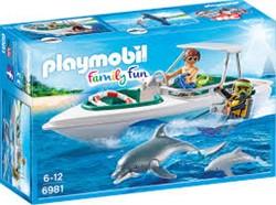 Playmobil Family Fun - Duiktrip met plezierboot  6981