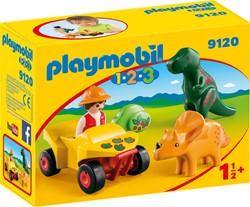 Playmobil 1.2.3 Dino-onderzoeker met quad  9120