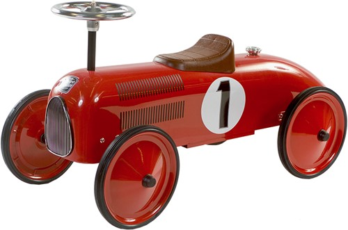 Retro Roller  loopauto rood James