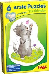 Haba legpuzzel 6 eerste puzzels Dierenkinderen