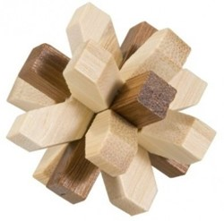 Fridolin houten puzzelspel IQ test 2 kleuren bamboe 6