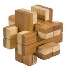 Fridolin houten puzzelspel IQ test 2 kleuren bamboe 5