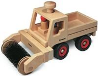 Fagus  houten speelvoertuig vrachtauto bestuurbaar 25cm-3