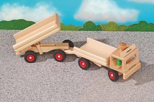 Fagus  houten speelvoertuig vrachtauto 40cm-2