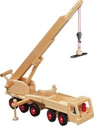 Fagus  houten speelvoertuig kraan met magneet 55cm