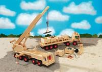 Fagus  houten speelvoertuig kraan 55cm-2