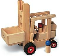 Fagus  houten speelvoertuig heftruck 29cm