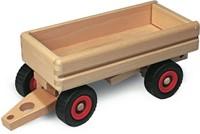 Fagus  houten speelvoertuig aanhanger kiepbaar 33cm