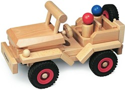 Fagus  houten speelvoertuig jeep bestuurbaar