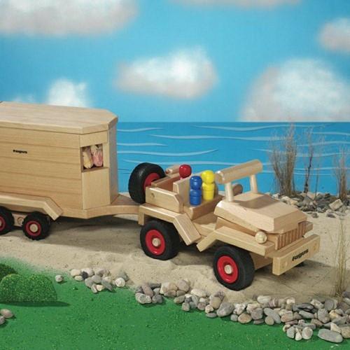 Fagus  houten speelvoertuig jeep bestuurbaar-3