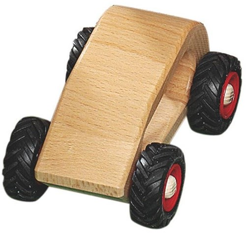 Fagus  houten speelvoertuig personenauto 13cm