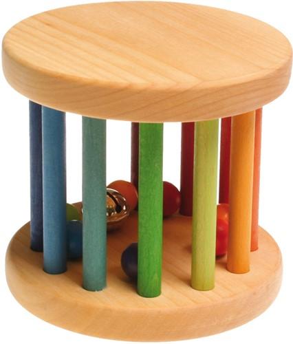 Grimm's houten rammelaar groot regenboog