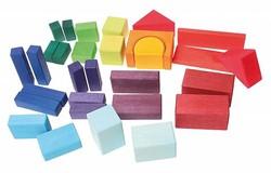 Grimm's houten gekleurde blokken 30 Geo-Blocks