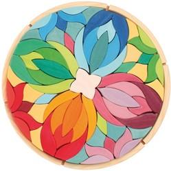 Grimm's 72-delige Grote Gekleurde Houten Mandala 43065