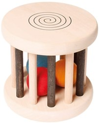 Grimm's houten rammelaar monochrome