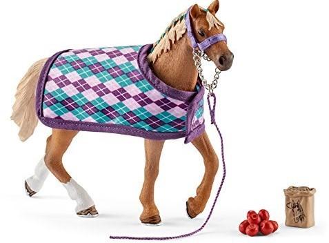 Schleich Paarden - Engelse Volbloed Met Deken 42360