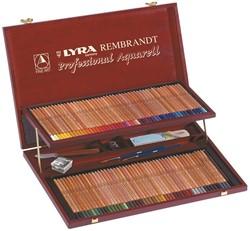 LYRA Rembrandt Aquarel houten koffer met 106 kleuren