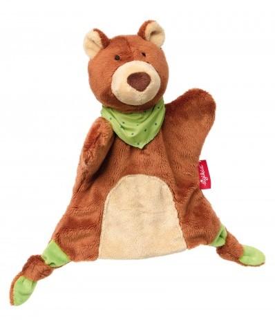 sigikid Handpop-knuffeldoekje beer, Soft & Play