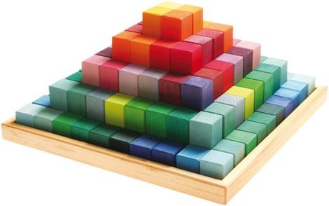 Grimm's 100-delige Grote Gekleurde Houten Blokkenset 42090
