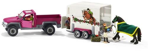 Schleich Paarden - Pick-Up Met Paardenaanhanger  42346