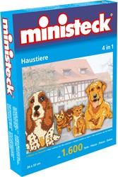 Ministeck knutselspullen huisdieren 4-in-1 1600 stukjes