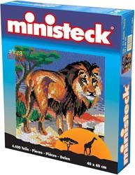 Ministeck knutselspullen Afrika leeuw 4400 stukjes
