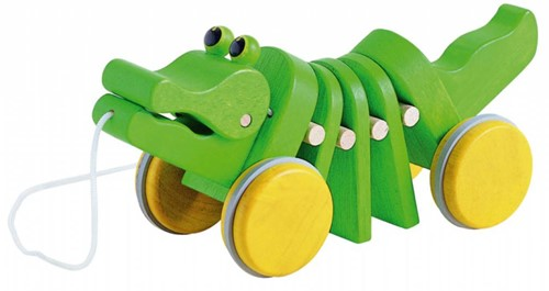 Plan Toys houten trekfiguur krokodil