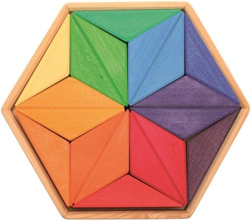 Grimm's houten puzzel kleuren ster - 12 stukjes
