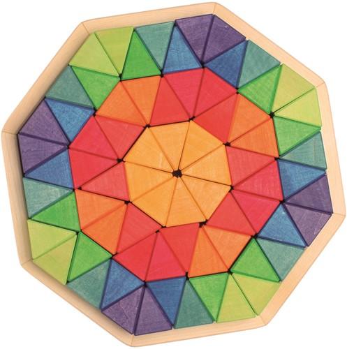 Grimm's houten puzzel achthoek groot - 72 stukjes