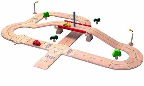 Plan Toys Plan City houten speelstad wegen set deluxe