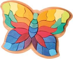 Grimm's 37-delige gekleurde houten Vlinder 43681