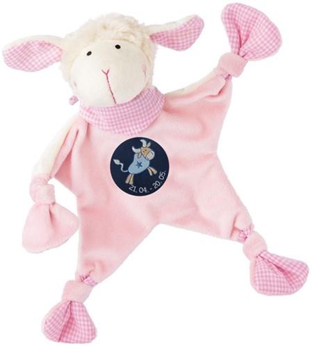 sigikid Sterrebeeld knuffellaapje schaap roze, Stier