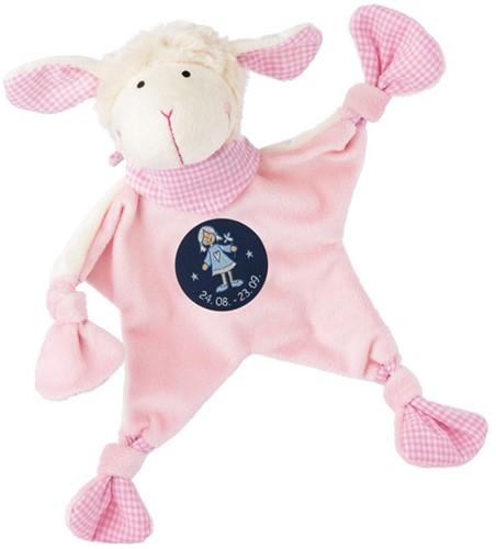 sigikid Sterrebeeld knuffellaapje schaap roze, Maagd