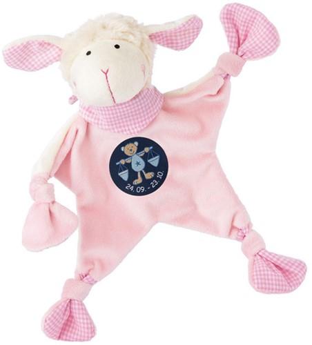 sigikid Sterrebeeld knuffellaapje schaap roze, Weegschaal