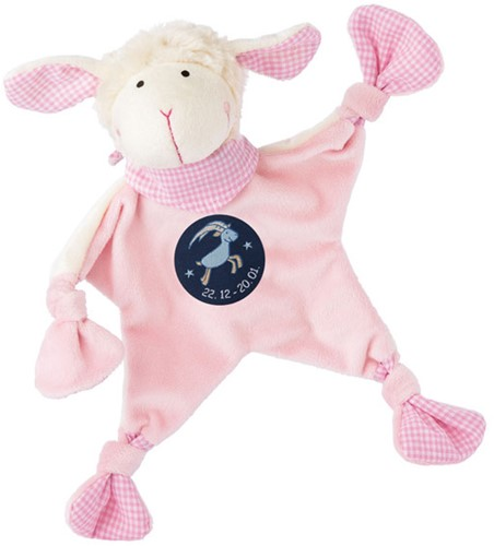 sigikid Sterrebeeld knuffellaapje schaap roze, Steenbok
