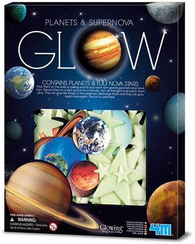4MFosforescerendNOVA:planeten&supernovabevat9planetenen100sterren