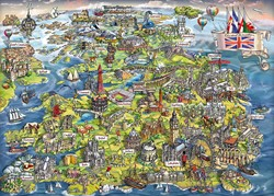 Gibsons puzzel Beautiful Britain - 1000 stukjes