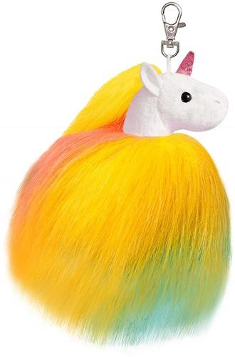 Aurora Sparkle Tales Twirly eenhoorn sleutelhanger geel 13 cm